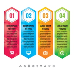 Business infographic concept vertical block vector