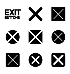Exit buttons vector