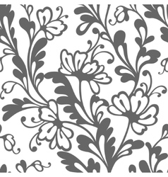 Seamless flower lace pattern vector
