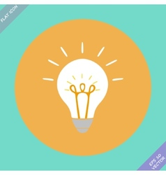 Creative idea in bulb shape as inspiration concept vector