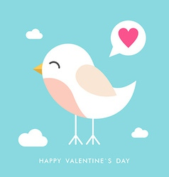 St valentines day greeting card in flat style cute vector