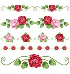 Vintage roses vector