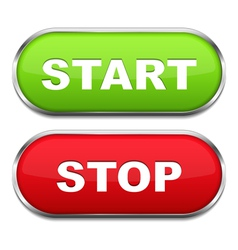 Start and stop buttons vector