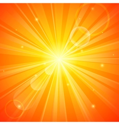 Abstract orange sunny background vector