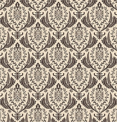 Seamless retro wallpaper vintage baroque vector