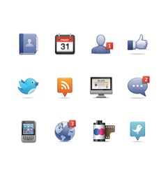 Social network pack vector