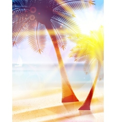 Summer hot holidays poster template vector