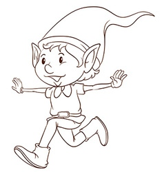 A plain drawing of an elf vector