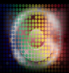 Bright lites 5 speakers vector
