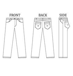 Long pant jeans vector