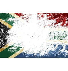 South africa flag grunge background vector