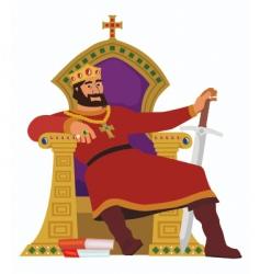 Happy king vector