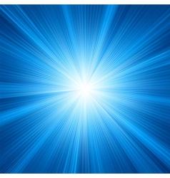 Blue star burst background vector