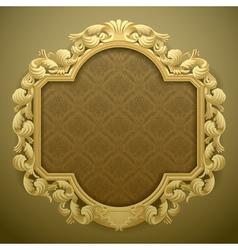 Baroque frame vector