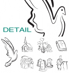 Religious icons vector