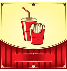 Fast food with cola and fries vector