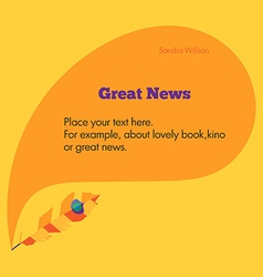 Template with pen and place for your headline and vector