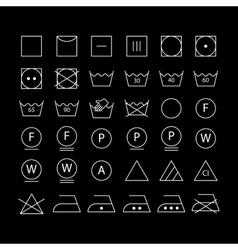 White washing symbols vector