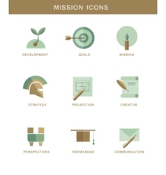 Abstract mission flat design simbol icons vector