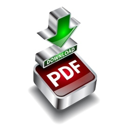 Pdf download icon button internet document vector