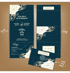 Dark seal and send wedding invitation vector