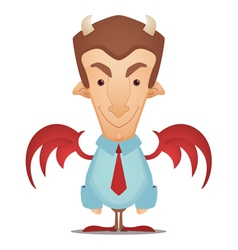 Devil businessman vector