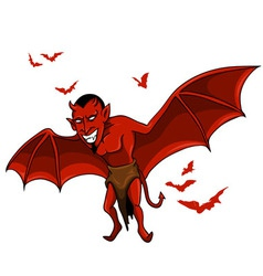 Devil bat vector