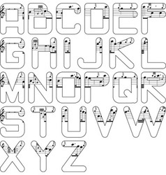 Alphabet music vector
