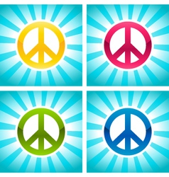 Colorful peace signs vector