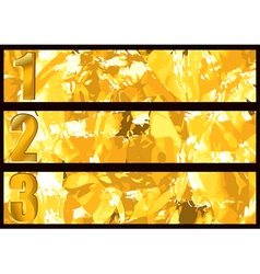 Gold textured banner vector