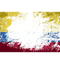 Colombian flag grunge background vector
