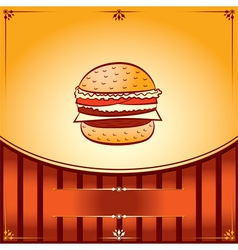Hot hamburger vector
