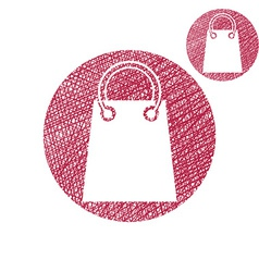 Shopping bag simple single color icon isolated on vector