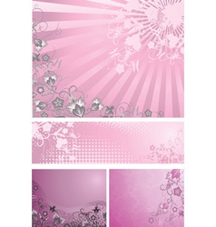 Pink backgrounds collection vector