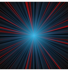 Abstract blue and red stripes burst background vector