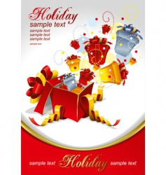 Gifts for holidays vector