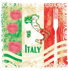 Italy travel grunge card with national italian vector