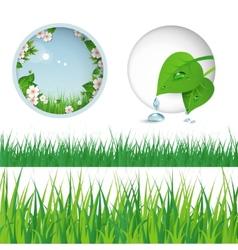 Spring grass vector