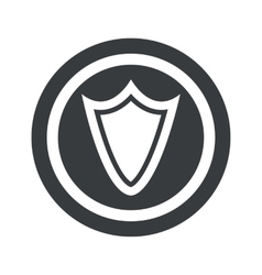 Round black shield sign vector