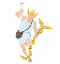 God hermes vector