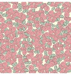 Background with many red roses vector