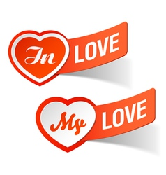 In love my love labels vector