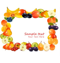 Sweet fruits background vector