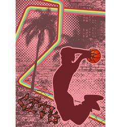 Vintage urban grunge basket vector