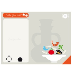 Card for the recipe vector