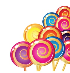 Set of colorful lollipops vector