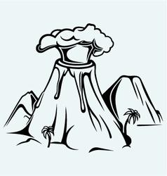 Exploding volcano vector