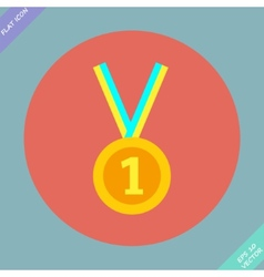 1st position gold medal icon - vector