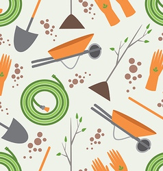 Seamless pattern tools for working in the garden vector