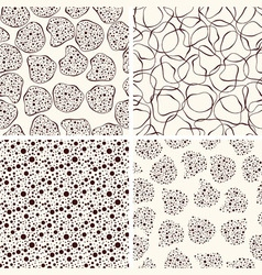 4 seamless funky patterns vector